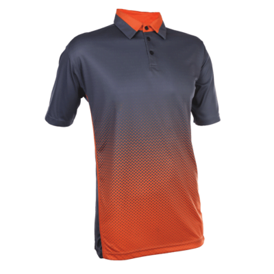 QD37 Multi-Tone Dri-Fit Polo T-Shirts 2018-19 thumbnail darkgrey orange