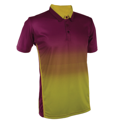 QD37 Multi-Tone Dri-Fit Polo T-Shirts 2018-19 thumbnail darkpurple yellow