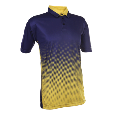 QD37 Multi-Tone Dri-Fit Polo T-Shirts 2018-19 thumbnail navy yellow
