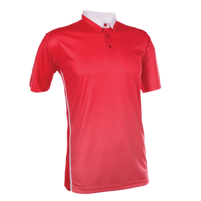 QD37 Multi-Tone Dri-Fit Polo T-Shirts 2018-19 thumbnail red peach