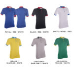 QD41 Multi-Tone Mandarin Collar Polo T-Shirts 2018-19 catalogue