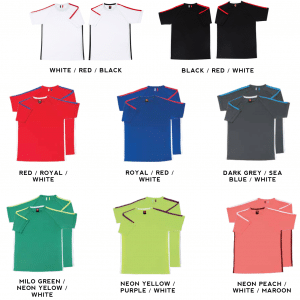 QD42 Multi-tone dri-fit t-shirts 2018-19 catalogue