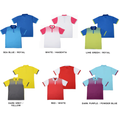 QD44 Multi-Tone Dri-Fit Polo T-Shirts 2018-19 catalogue