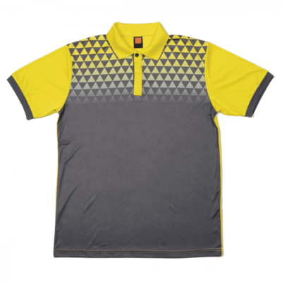 QD44 Multi-Tone Dri-Fit Polo T-Shirts 2018-19 thumbnail dark grey yellow