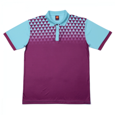 QD44 Multi-Tone Dri-Fit Polo T-Shirts 2018-19 thumbnail dark purple