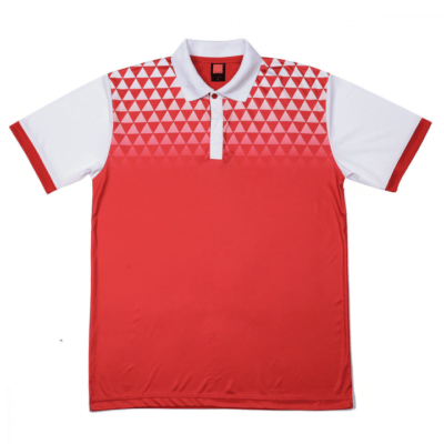 QD44 Multi-Tone Dri-Fit Polo T-Shirts 2018-19 thumbnail red white