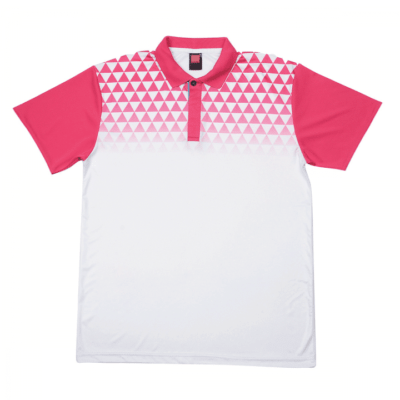 QD44 Multi-Tone Dri-Fit Polo T-Shirts 2018-19 thumbnail white magenta