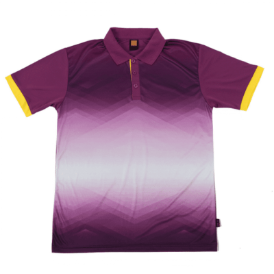 QD45 Multi-Tone Dri-Fit Polo T-Shirts 2018-19 thumbnail dark purple yellow
