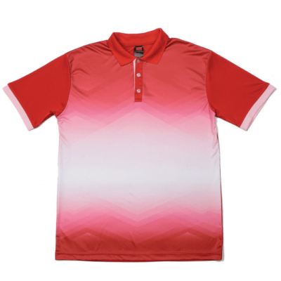 QD45 Multi-Tone Dri-Fit Polo T-Shirts 2018-19 thumbnail red pink