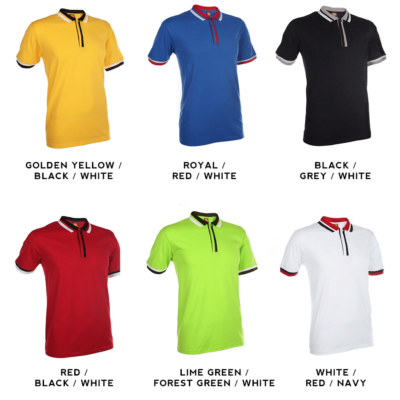 SJ04 Multi-Tone Cotton Polo T-Shirts 2018-19 catalogue