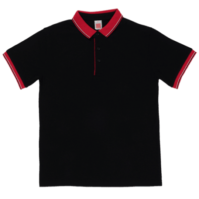 HC20 Multi-Tone Cotton Polo T-Shirts 2018-19 thumbnail black