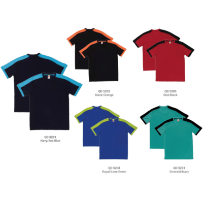 QD52 Multi-Tone Dri-Fit V-Neck T-Shirts 2018-19 catalogue