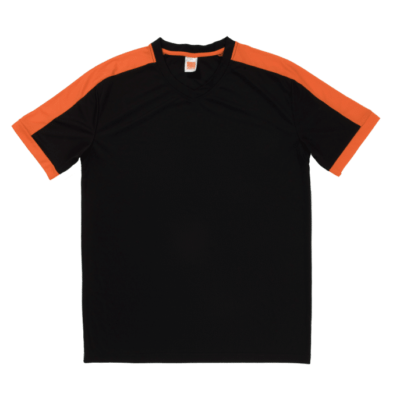 QD52 Multi-Tone Dri-Fit V-Neck T-Shirts 2018-19 thumbnail black orange