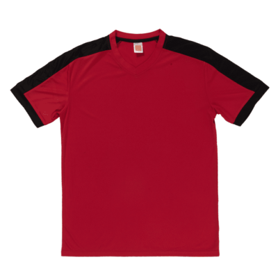 QD52 Multi-Tone Dri-Fit V-Neck T-Shirts 2018-19 thumbnail red