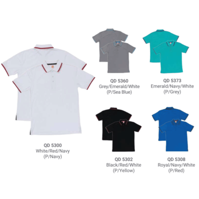 QD53 Multi-Tone Dri-Fit Polo T-Shirts 2018-19 catalogue
