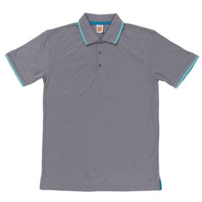 QD53 Multi-Tone Dri-Fit Polo T-Shirts 2018-19 thumbnail grey