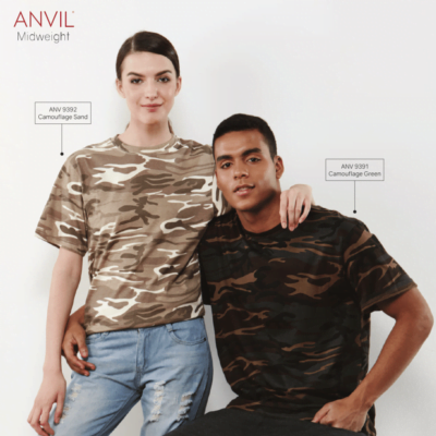 Anvil 939 Midweight Camouflage Tee 2018-19 catalogue