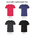 Anvil 980 Lightweight Tee 2018-19 catalogue