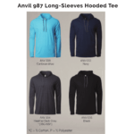 Anvil 987 Long-Sleeves Hooded Tee 2018-19 catalogue