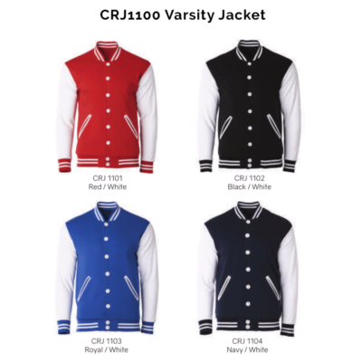 CRJ1100 Varsity Jacket 2018-19 catalogue