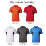 CRP1300 Delta Polo T-Shirts 2018-19 catalogue