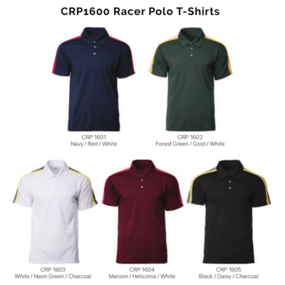 CRP1600 Racer Polo T Shirts 2018 19 catalogue 400x400 - CRP1600 Racer Polo T-Shirts