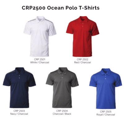 CRP2500 Ocean Polo T-Shirts 2018-19 catalogue