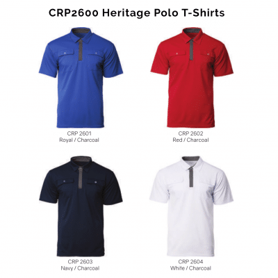 CRP2600 Heritage Polo T-Shirts 2018-19 catalogue