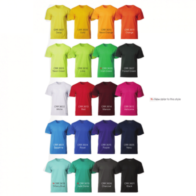 CRR3600 Dry Pique Performance T-shirts 2018-19 catalogue