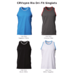 CRV1500 Rio Dri-Fit Singlets 2018-19 Catalogue