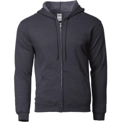 Dark Heather Gildan 88600 400x400 - Gildan Full Zip Hooded Sweatshirts (88600)