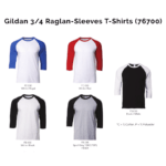 Gildan 34 Raglan Sleeves T Shirts 76700 2018 19 catalogue 150x150 - Gildan 3/4 Raglan-Sleeves T-Shirts (76700)