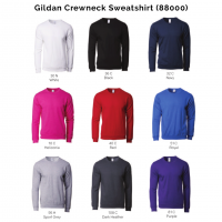 Gildan Crewneck Sweatshirt 88000 2018-19 catalogue