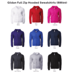 Gildan Full Zip Hooded Sweatshirts 88600 2018-19 catalogue