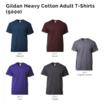 Gildan Heavy Cotton Adult T-Shirts 5000 2018-19 catalogue