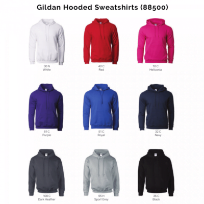 Gildan Hooded Sweatshirts 88500 2018-19 catalogue