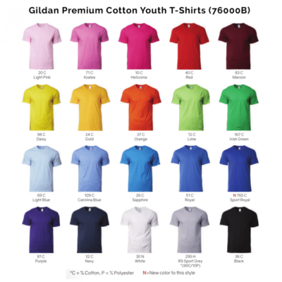 Gildan Premium Cotton Adult T-Shirts 76000B 2018-19 catalogue