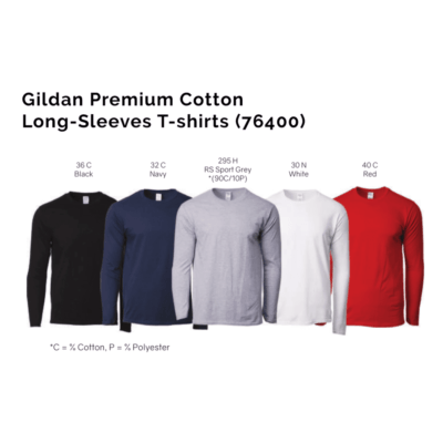 Gildan Premium Cotton Long-Sleeves T-shirts 76400 2018-19 unisex catalogue
