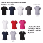 Gildan Softstyle Adult V-Neck T-shirts 63V00 2018-19 catalogue