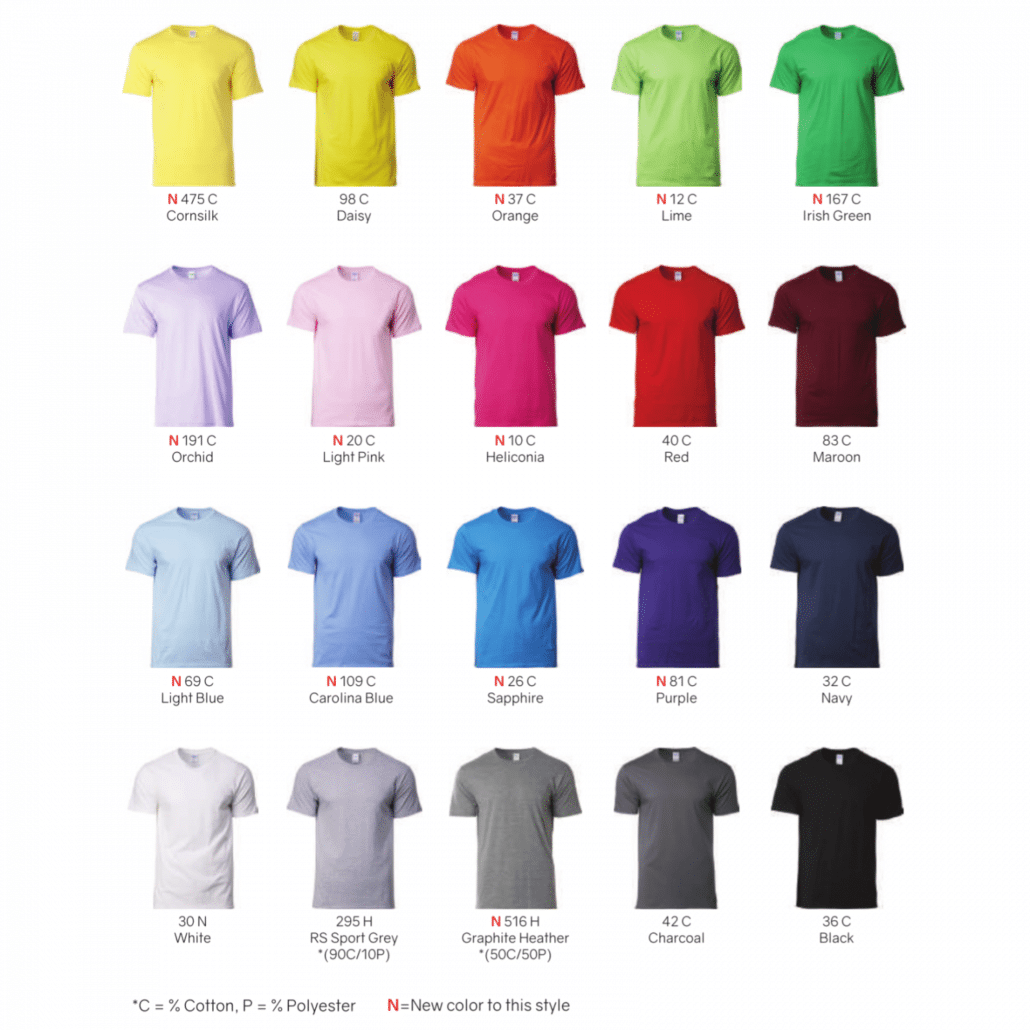 1b4b3538 Gildan Softstyle Cotton Adult T-Shirts 63000 2018-19 catalogue