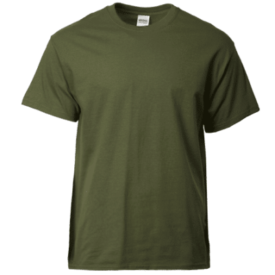 Gildan Ultra Cotton Adult T-Shirts 2000 2018-19 militarygreen thumbnail