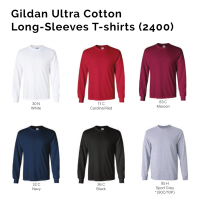 Gildan Ultra Cotton Long-Sleeves T-shirts 2400 2018-19 catalogue