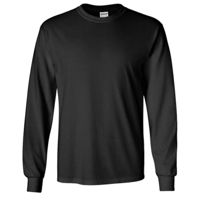 Gildan Ultra Cotton Long-Sleeves T-shirts 2400 2018-19 thumbnail black