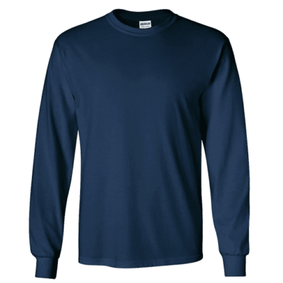 Gildan Ultra Cotton Long-Sleeves T-shirts 2400 2018-19 thumbnail navy