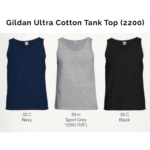 Gildan Ultra Cotton Tank Top 2200 2018-19 catalogue
