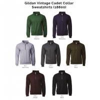 Gildan Vintage Cadet Collar Sweatshirts 18800 2018-19 catalogue