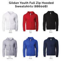 Gildan Youth Full Zip Hooded Sweatshirts 88600B 2018-19 catalogue