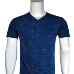Lycra Vneck Navy Front 150x150 - Cotton Lycra V-Neck T-Shirts