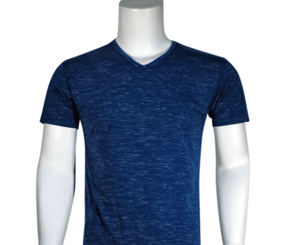 Lycra Vneck Navy Front 400x347 - Cotton Lycra V-Neck T-Shirts