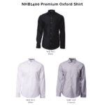 NHB1400 Premium Oxford Shirt 2018-19 catalogue